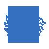 molding service blue icon