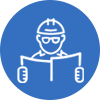 project management white icon