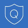 quality control white icon